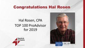 Hal Rosen Top 100 ProAdvisor