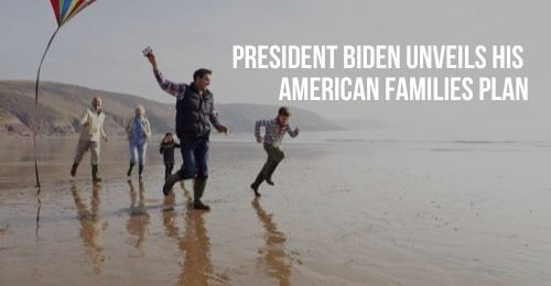 Family Running on Beach with Kite | President Biden Unveils His American Families Plan