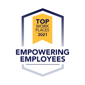 Top Work Places 2021 - Empowering Employees