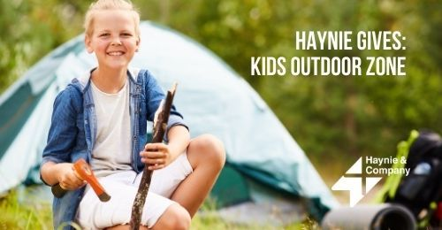 Smiling Kid Camping | Haynie Gives: Kids Outdoor Zone