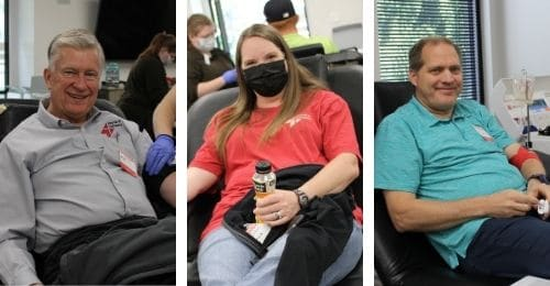 employees giving blood in salt lake city
