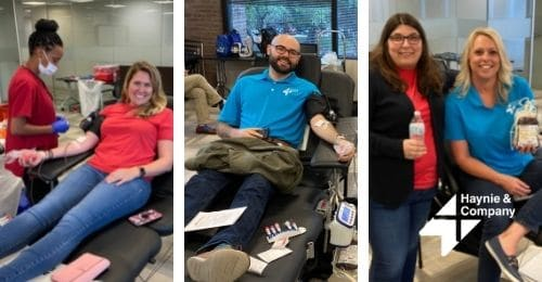 haynie employees giving blood